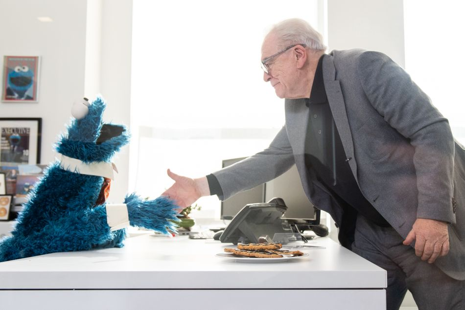 'Succession' star Brian Cox pitches Cookie Monster on sweet deal