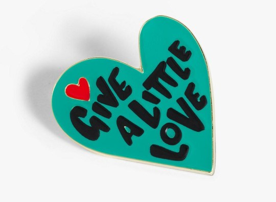 john lewis christmas advert give a little love pin badge