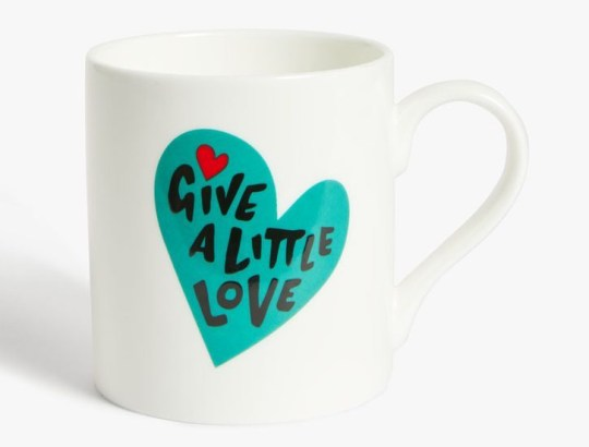John Lewis Christmas advert 2020 merchandise - give a little love mug