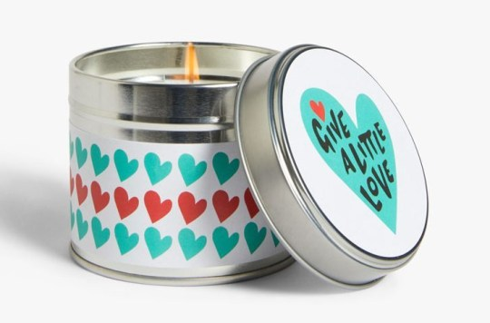John Lewis Christmas advert 2020 merchandise - give a little love candle