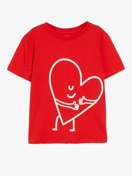John Lewis Christmas advert 2020 merchandise - red heart hug T-shirt