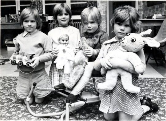 Children of Yorkshire Ripper murder victim, Wilma McCann. (L-R) Richard (5), Sonje (7), Angela (3) and Donna (4). Mrs McCann, was murdered in Leeds in October 1975. Wilma McCannn 4.jpg