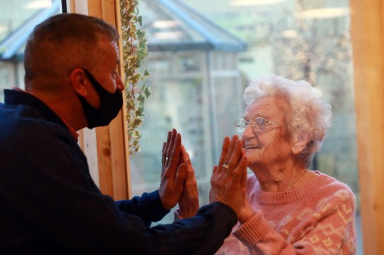 Freda Maddison is reunited with her son for the first time in months