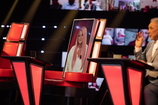 Meghan Trainor via video link on The Voice 2020