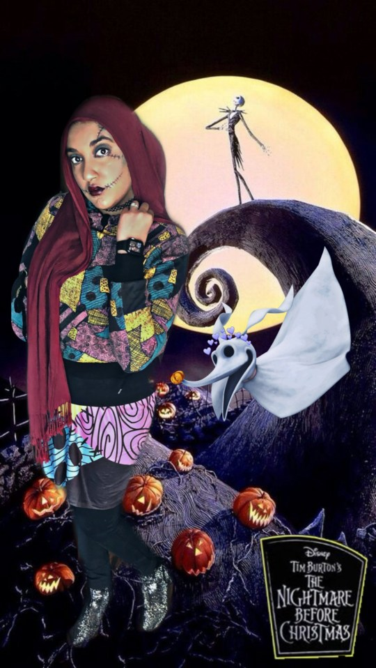 Sabeen as Sally from the Nightmare Before Christmas