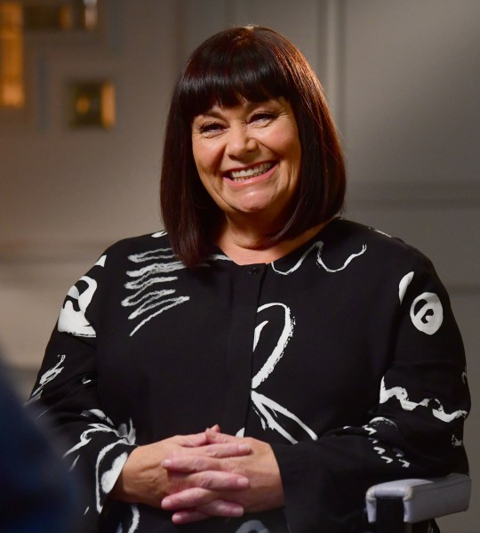 For use in UK, Ireland or Benelux countries only Undated BBC handout photo of Dawn French being interviewed by Andrew Marr for the BBC current affairs programme, The Andrew Marr Show. PA Photo. Issue date: Sunday October 18, 2020. See PA story SHOWBIZ French. Photo credit should read: Jeff Overs /BBC/PA Wire NOTE TO EDITORS: Not for use more than 21 days after issue. You may use this picture without charge only for the purpose of publicising or reporting on current BBC programming, personnel or other BBC output or activity within 21 days of issue. Any use after that time MUST be cleared through BBC Picture Publicity. Please credit the image to the BBC and any named photographer or independent programme maker, as described in the caption.