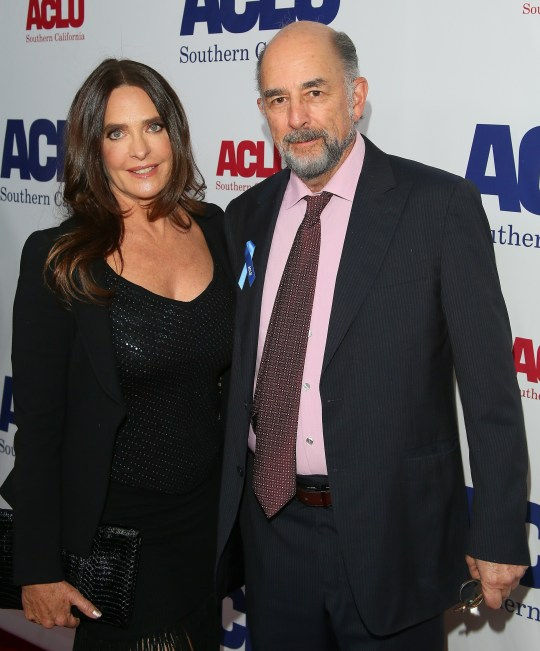 Richard Schiff and Sheila Kelley on red carpet
