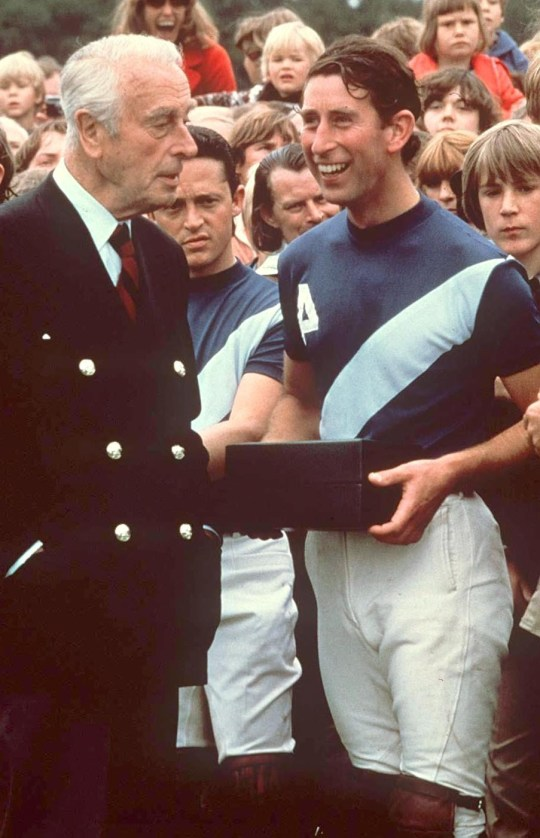 Prince Charles and Lord Louis Mountbatten