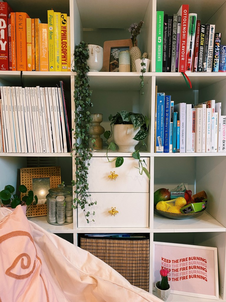 What I Rent: Rosie, Southsea - plants and books on shelves