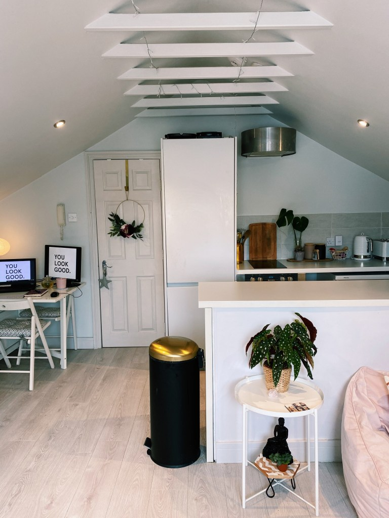 What I Rent: Rosie, Southsea - view of kitchen and desk