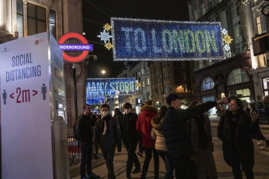 Christmas lights on Oxford Circus
