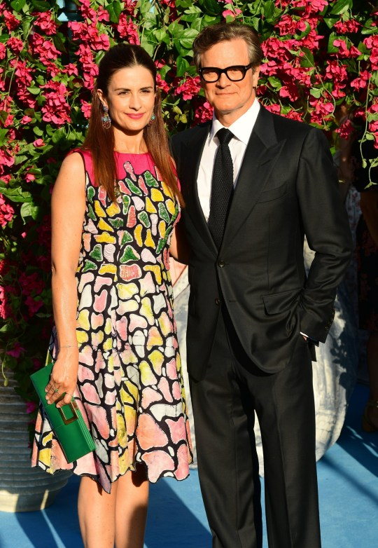 File photo dated 16/7/2018 of Livia Giuggioli and Colin Firth. The actor has split from his wife, the Italian film producer, after 22 years of marriage. PA Photo. Issue date: Friday December 13, 2019. The pair share two sons, Luca and Matteo, who were both born in Rome, and lived together between London and Italy. See PA story SHOWBIZ Firth. Photo credit should read: Ian West/PA Wire