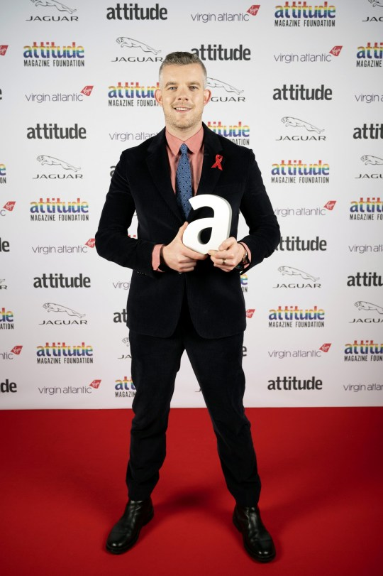 Russell Tovey on the red carpet at this year's Attitude Awards