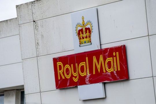 A close-up of a Royal Mail sign at a sorting office in Filton on July 02, 2020 in Bristol, United Kingdom.