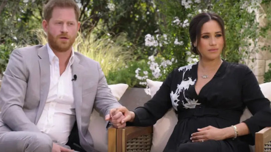 Oprah Winfrey?s highly anticipated two-hour interview with Prince Harry and his wife, Meghan, aired on CBS Sunday night.Credit...CBS