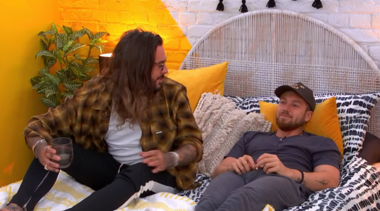 Pete Wicks and Sam Thompson on The Circle, Channel 4