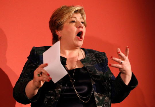 Shadow international trade secretary Emily Thornberry said: 'The mask has slipped, and the shameful truth of Tory trade policy is revealed'