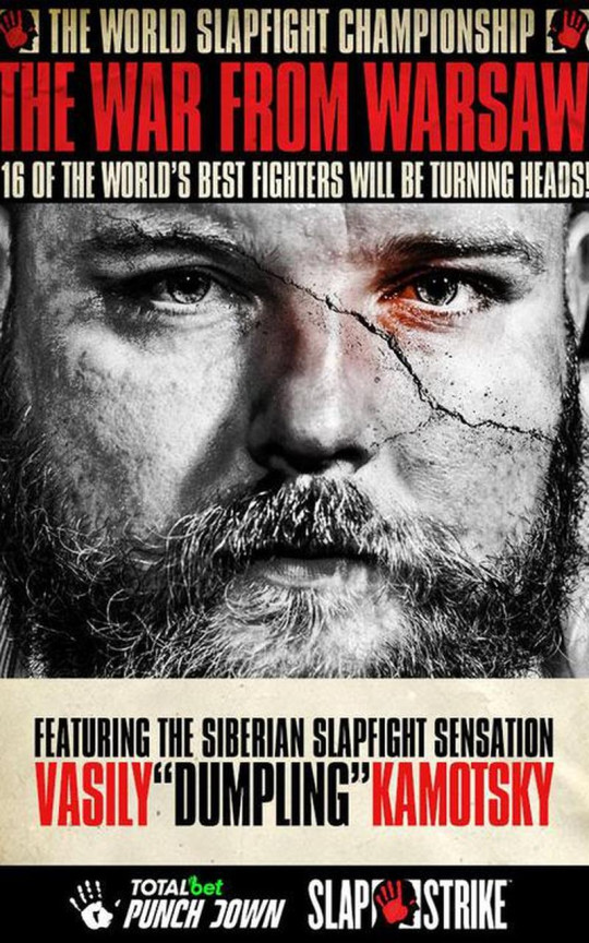 FITE TV poster for World Slapfight Championship - The War From Warsaw