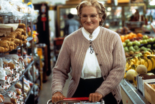 Robin Williams as Mrs Doubtfire