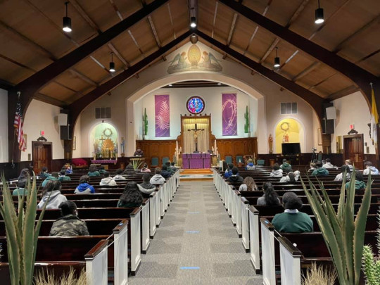 St. Martin de Porres Marianist School's chapel. St. Martin de Porres Marianist School's headmaster John Patrick Holian allegedly forced a black pupil to kneel and apologise.