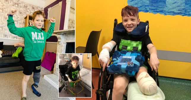 Ten-year-old Max Clark has taken on a running challenge for charity less than a year after losing his leg in a horror smash.