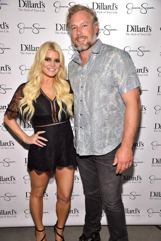 Jessica Simpson and Eric Johnson attend a spring style event