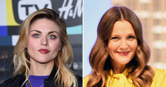 Francis Bean Cobain pictured separately alongside Drew Barrymore