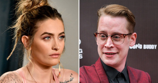 Paris Jackson and Macaulay Culkin pictured separately