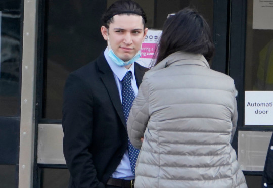 Student Jamie Swain, 21, outside North Tyneside Magistrates' Court, North Shields, where he was banned from driving for 6 months after being caught in Jesmond, Newcastle, on February 25 driving one of the city's e-scooters while under the influence of alcohol. Picture date: Thursday March 25, 2021. PA Photo. Five more e-scooter riders were due before the same court on Thursday for similar offences said to have occurred in Jesmond on the same night. See PA story COURTS Scooters. Photo credit should read: Owen Humphreys/PA Wire