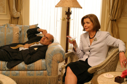 Editorial use only. No book cover usage. Mandatory Credit: Photo by 20th Century Fox Television/Kobal/REX (5884241c) Jeffrey Tambor, Jessica Walter Arrested Development - 2003 20th Century Fox Television USA Television