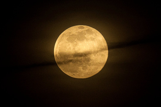 SIPA USA via PA Images The wolf moon seen trough clouds from downtown city. During the first month of the year ?Wolf moon ?takes place. This year will observe other two sun and lunar eclipses and three supermoon. (Photo by Jesus Merida / SOPA Images/Sipa USA)