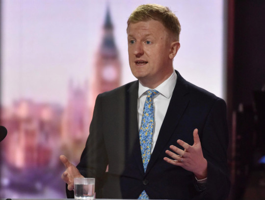 Britain's Secretary of State for Digital, Culture, Media and Sport Oliver Dowden speaks during BBC TV's The Andrew Marr Show in London, Britain March 28, 2021. Jeff Overs/BBC/Handout via REUTERS ATTENTION EDITORS - THIS IMAGE HAS BEEN SUPPLIED BY A THIRD PARTY. NO RESALES. NO ARCHIVES. NO NEW USES AFTER 21 DAYS