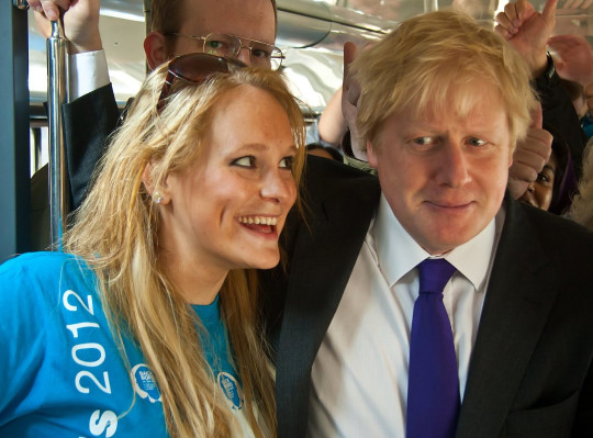 Jennifer Arcuri and Boris Johnson on the BACK BORIS 2012 campaign.