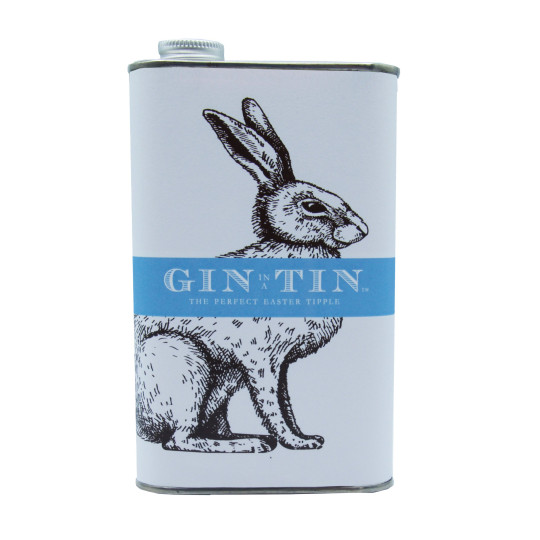 Gin In A Tin with bunny design