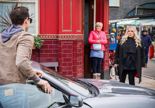 Sharon, Zack and Jean in EastEnders