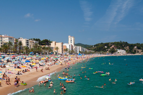 Lloret de Mar beach in Spain, which might be out of reach for a while