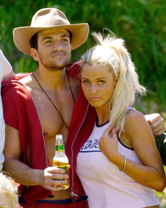 Katie Price and Peter Andre on I'm A Celebrity... Get Me Out Of Here