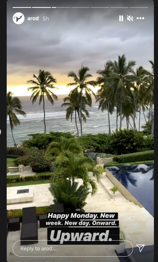 Alex Rodriguez shares view from villa in the Dominican Republic