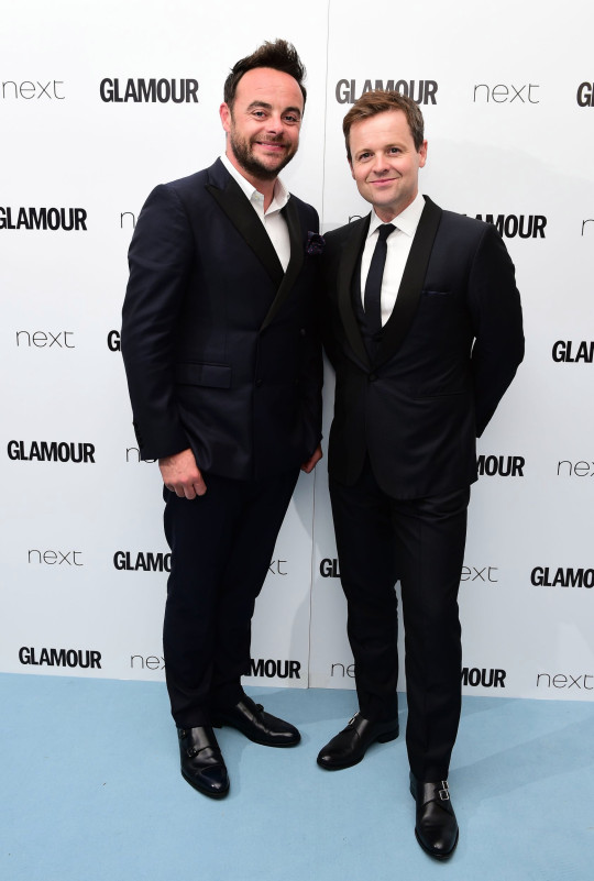 Anthony McPartlin and Declan Donnelly aka Ant and Dec in the press room at the Glamour Women of the Year Awards 2016, Berkeley Square Gardens, London. PRESS ASSOCIATION Photo. Picture date: Tuesday June 7, 2016. Photo credit should read: Ian West/PA Wire