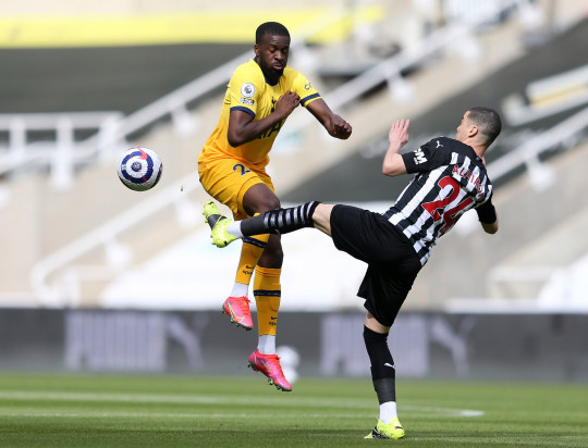 Tanguy Ndombele and Spurs were held to a 2-2 draw by Newcastle United on Sunday