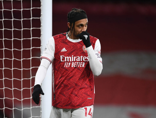 Aubameyang struggled during Arsenal's dismal defeat to Liverpool