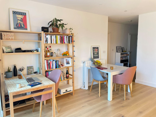 What I Rent: Clara and Florian - dining room and desk area