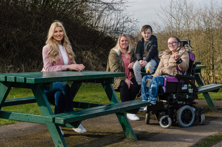 McCain supports the Family Fund, featuring the Waite family (mum Kirsty, with Heidi (13) and Noah (8)) and Christine McGuinness, in Runcorn, Cheshire