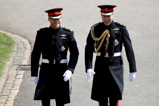 FILE PHOTO: Britain's Prince Harry, Duke of Sussex, arrives with his best man Prince William, Duke of Cambridge, at St George's Chapel, Windsor Castle, in Windsor, Britain, May 19, 2018. Odd ANDERSEN/Pool via REUTERS/File Photo