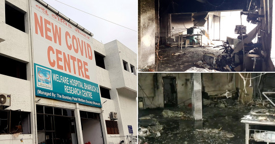 Some 18 people were killed in a fire at an Indian hospital in Bharuch City, Gujarat