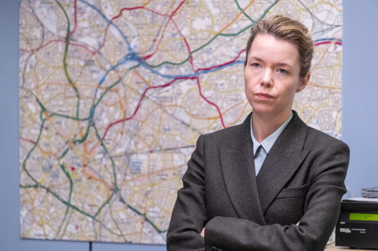 Embargoed to 0001 Tuesday April 23 For use in UK, Ireland or Benelux countries only Undated BBC handout photo of Anna Maxwell Martin in her role as Detective Chief Superintendent Patricia Carmichael for the final two episodes of series five of the BBC1 drama, Line of Duty. PRESS ASSOCIATION Photo. Issue date: Tuesday April 23, 2019. See PA story SHOWBIZ Duty. Photo credit should read: BBC/PA Wire NOTE TO EDITORS: Not for use more than 21 days after issue. You may use this picture without charge only for the purpose of publicising or reporting on current BBC programming, personnel or other BBC output or activity within 21 days of issue. Any use after that time MUST be cleared through BBC Picture Publicity. Please credit the image to the BBC and any named photographer or independent programme maker, as described in the caption.