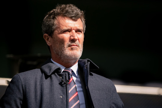 Roy Keane looks on during Manchester United's clash with Tottenham