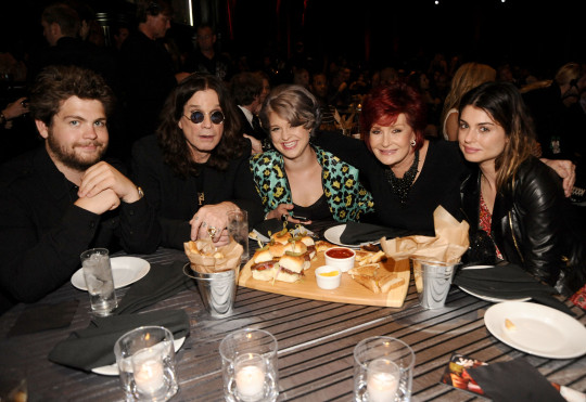 Jack, Ozzy, Kelly, Sharon and Aimeee Osbourne together at an event
