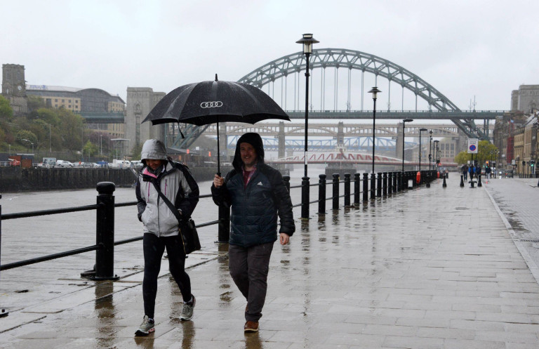 Dated:03/05/2021 BANK HOLIDAY MONDAY RAIN WASHOUT May Bank Holiday Monday on Newcastle's Quayside is a total washout as heavy rain hits the region today. See Weather Round Up