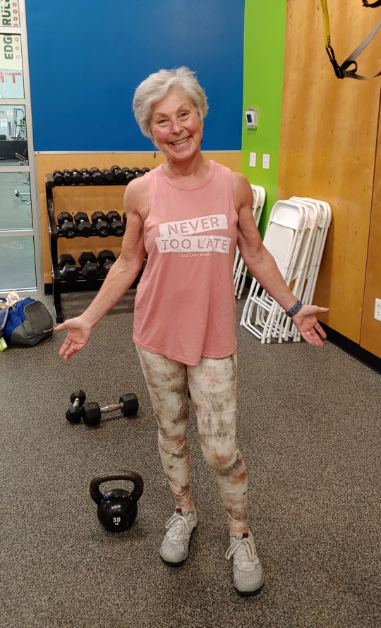 Mary Duffy in the gym.